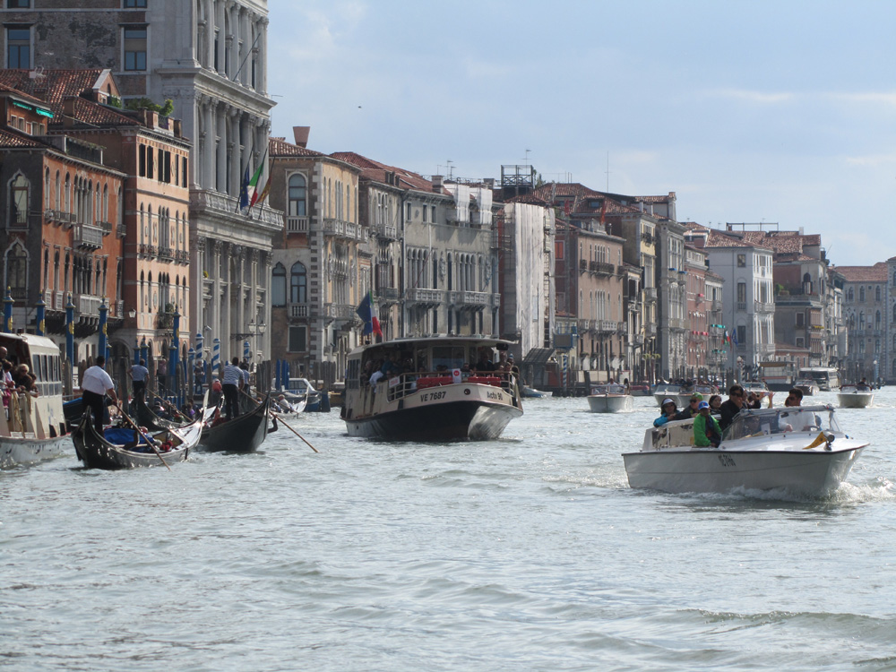 Boats in Venice (Action Shot)
