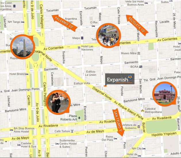 expanish map