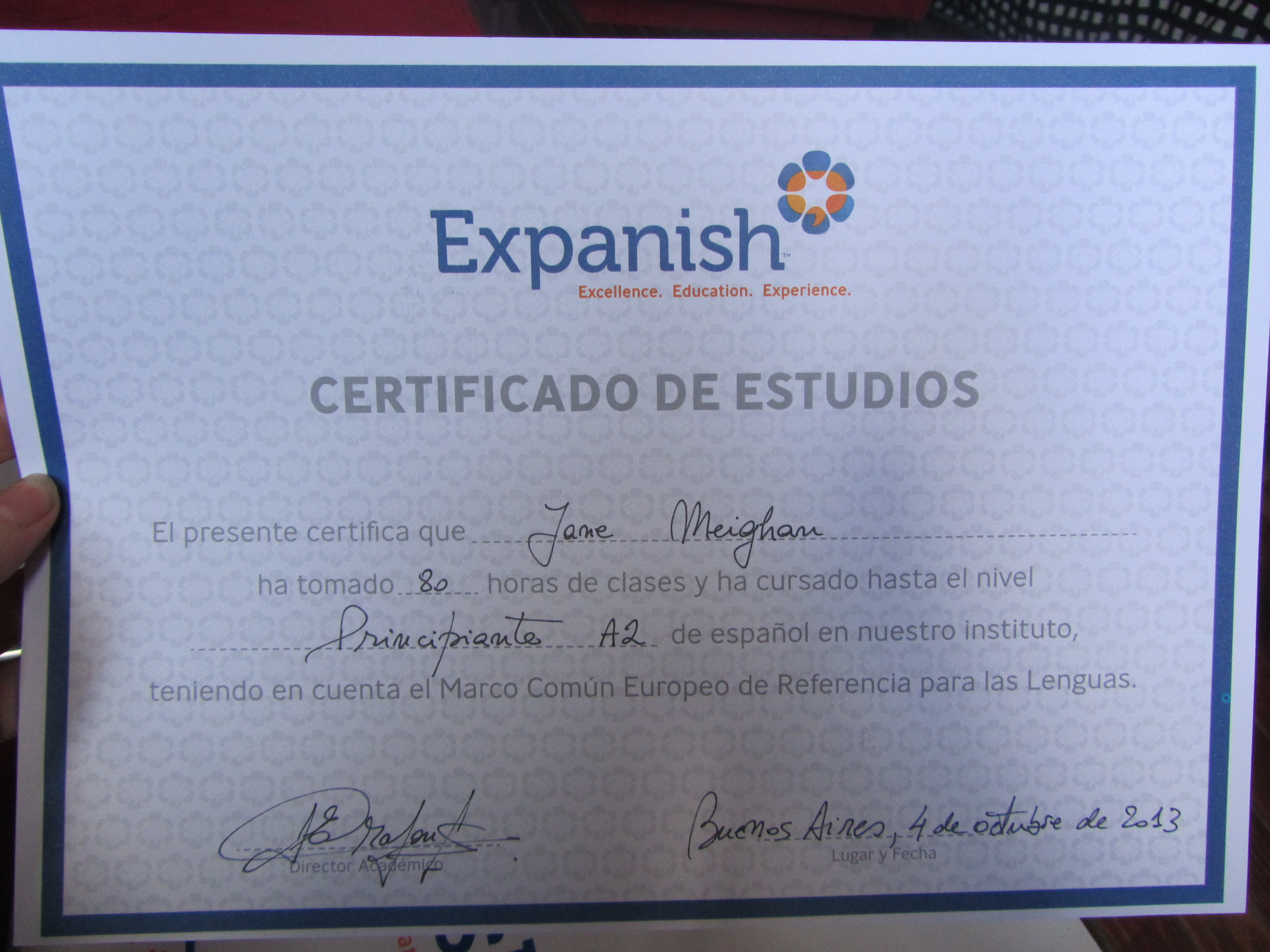 Review of expanish spanish language course in buenos aires expanish certificate spanish language course 1betcityfo Gallery