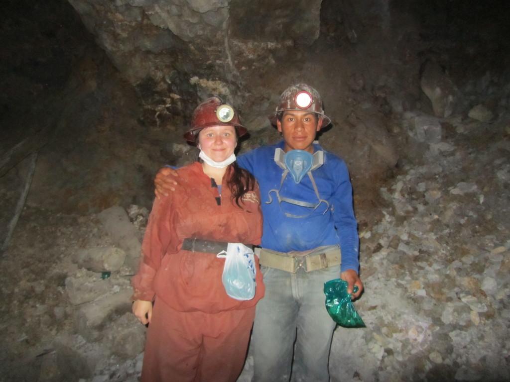 me with a miner in cerro rico potosi bolivia