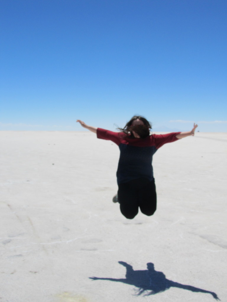 me jumping in the bolivian salt flats
