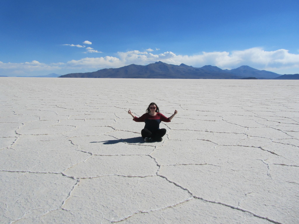 me at the bolivian salt flats uyuni
