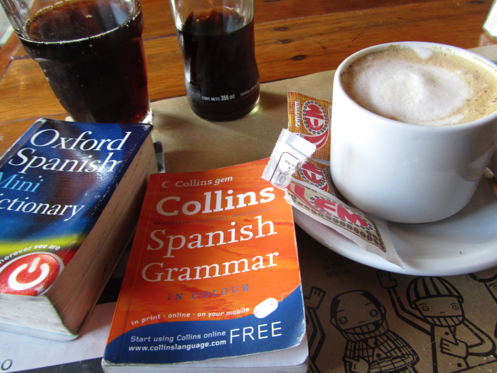 spanish books and coffee