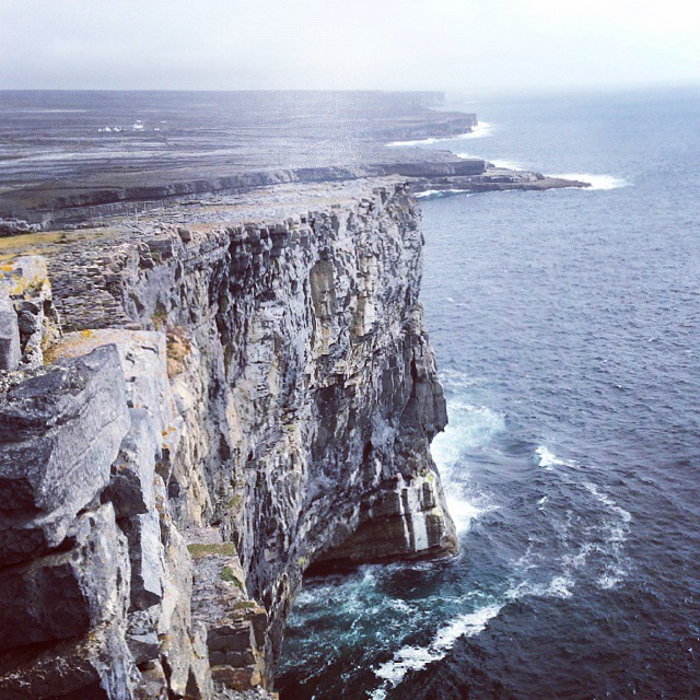cliffs on inis mor island