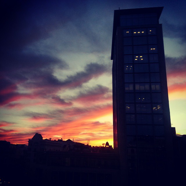 rooftop sunset barcelona by runaway jane