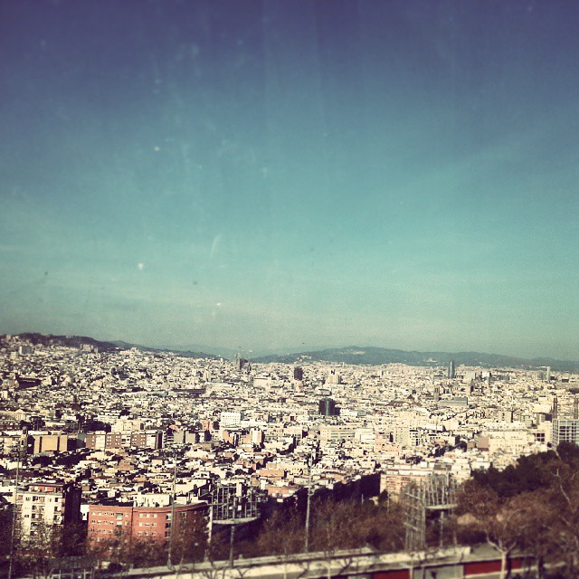barcelona city view by runaway jane